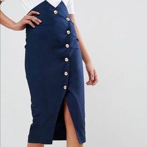 ASOS tailored high waist pencil skirt